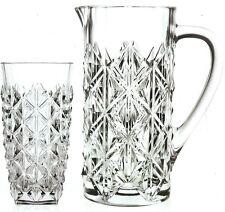 Rcr Crystal Enigma 7 Piece Jug Set 1 Crystal Luxion Carafe Jug 6 hiball glasses