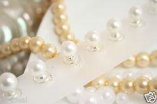 Curlie deluxe 12 Stück mit Perle besetzt 1,5cm, Braut Kommunionkind Blumenkind