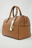 Michael Kors Mercer Medium Leather Duffle Satchel/shoulder Bag in Luggage Brown