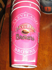 PINK CLEVELAND BROWNS HOLOGRAPHIC TUMBLERS/CUPS 4 NEW