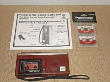 Vtg Ge Micro Cassette Recorder Two Speed Capstan w/ Care Guide 2 New Cassettes