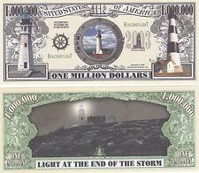 Two Lighthouse Ocean Light History Novelty Money Bills # 078