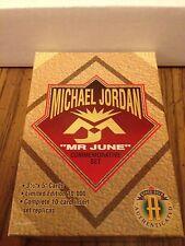 1993-94 UPPER DECK MR. JUNE COMPLETE SET, 10 CARDS, JUMBOS 3X5. MICHAEL JORDAN