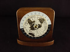 Paper Weight ~ Woodessen ~ Walnut, Solid Wood, World Time Zones, Free Shipping