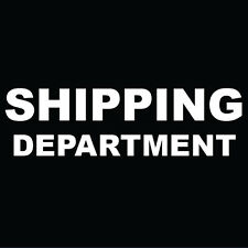 "Shipping Department Sign 8"" x  8"""