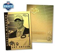 JAY CUTLER 2006 Laser Line Gold Card ROOKIE Draft Pick NFL #/1,000 * BOGO *