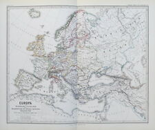 1874 Mappa Europa di pace di Vestfalia Monarchia spagnola a 1648 1700 SPRUNER