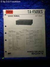 Sony Service Manual TA F505ES Amplifier  (#1272)