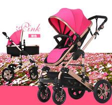 8 in 1 Baby Kids Toddler Pram Stroller Jogger with Bassinet 4 Wheel Pushchair