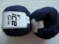 Ice Yarns Mohair Fine  wool blend yarn, Purple,  lot of 2 (391 yds ea)