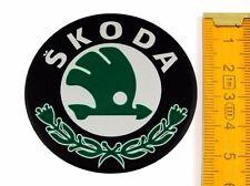 SKODA ★ 4 Stück ★ SILIKON Ø55mm Aufkleber Emblem Felgenaufkleber Radkappen
