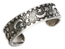 Moon n Star Toe Ring Sterling Silver 925 Best Deal Adjustable Jewelry USA Seller