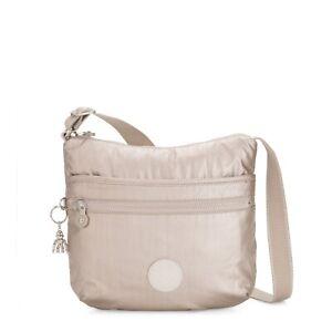 Kipling Medium Crossbody Bag ARTO Shoulder Bag METALLIC GLOW SS2020 RRP £73
