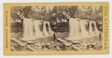 WATERFALL STEREOVIEW CATTSKILLS (CATSKILLS), CAMERA EQUIPMENT, AMERICAN SCENERY