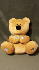 Talking Prayer Bear w/ Book And Backpack Plush Teddy Stuffed Animal EUC 10""