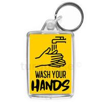 Virus Wash Your Hands Keyring Gift Key Fob | Medium Size