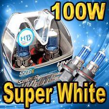 2x H13 9008 Xenon Halogen Headlight Bulbs High / Low Beam 100W White 5500K !