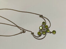lovely sterling silver peridot necklace