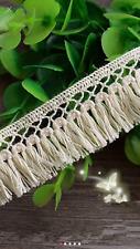 Off White Cream 2.5cm Delicate Trim Tassel Fringe DIY Cotton Lace Price per 30cm