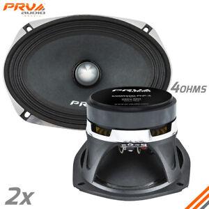 2x PRV Audio 69MR500-PhP-4 Midrange Car Audio Speakers 4 Ohms 6x9 PRO 500W