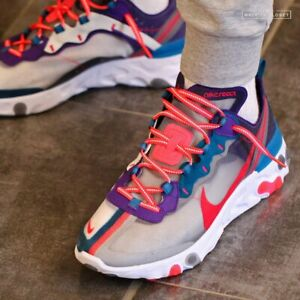 NIKE REACT ELEMENT 87 RED ORBIT LIGHTWEIGHT MEN'S RUNNING SHOES AUTHENTIC