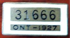 1927 Ontario Chauffeur's Pin