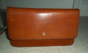 Fabulous VINTAGE Tan Leather Shoulder Bag/Clutch Bag/Crossbody