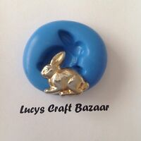 Silicone Mould Rabbit Bunny Easter Spring Sugarcraft Jewellery Fondant Sculpey