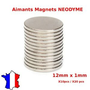 Lot Aimant Neodyme Neodium Disque Rond Fort Puissant Super Magnet N50 12mm X 1mm