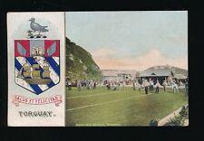 Devon TORQUAY Bowling Green Heraldic Crest PPC Used 1910