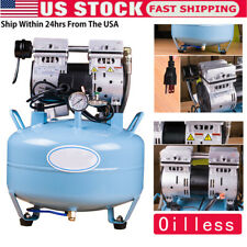 Medical Noiseless Oil Free Oilless Air Compressor For Dental Chair 30l 550w Usa