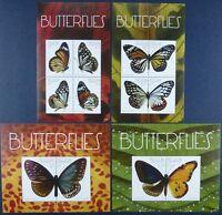 St. Vincent Bequia 2011 Schmetterlinge Butterflies 761-768 Block 68-69 MNH