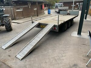 """NUGENT FLAT BED TRAILER 16'1"""" x 6'7 - Winch and Ramps included"""