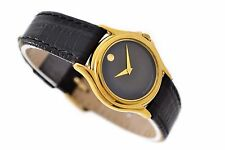 Vintage Movado Gold Plated Ladies Dress Quartz Watch 598