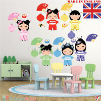 Kids Girl Wall Stickers Baby Nursery Bedroom Multi Coloured Doll Decal Art Mural