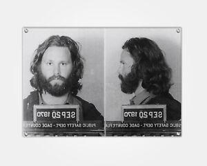 Jim Morrison Wood Print Celebrity Mugshot Booking Photo Mug Shot Pop Art