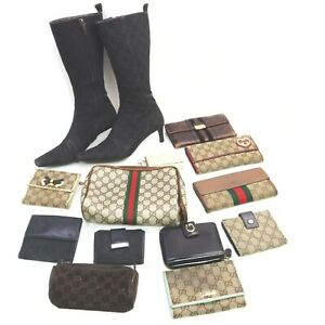 Gucci PVC Suede Leather Canvas Pouch Wallet Key Case boots 13pc set 519107