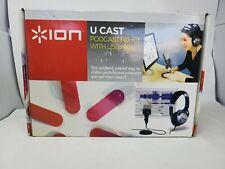 ION U CAST Podcast Studio Kit Audio Recording Equipment USB PC TWITCH YouTube