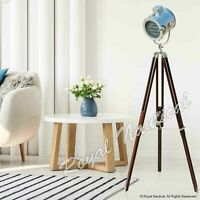 Antique Brown Chrome Finish LED Spot Light Tripod Floor Lamp Stand  Home Decor