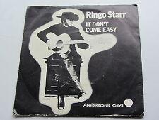 RINGO STARR ORIGINAL 1971  UK 45 IT DONT COME EASY   EXCELLENT