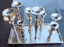 MARS & MORE Kerzenständer 8 armig Kerzenständerplatte -tablett Silberfarben Neu