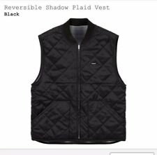 11bb0fe57d Supreme Reversible Shadow Plaid Vest Black Medium Box logo 100% Genuine