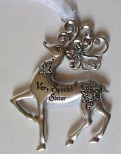 ddd Very Special Sister Merry Reindeer Christmas Ornament Ganz Car Charm crystal