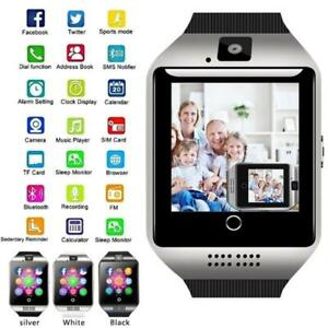 New Q18 Bluetooth Smart Watch 2G GSM SIM Card Camera Fitness Tracker For Android