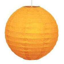 """Orange 10"""" Paper Lantern Hanging Decoration - Ideal for Parties & Events - New"""