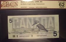 Canada 1986 BC-56eA-i $5 Replacement Note ANP4376557 - BCS ChUnc-62