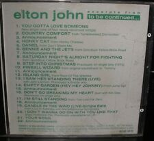 ELTON JOHN EXCERPTS FROM TO BE CONTINUED CANADA PROMO CD HONKY CAT YOUR SONG