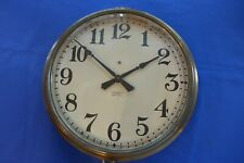 Vintage 1930-40's Electric Station Wall Clock Jos Mayer Seattle Silversmith Euc