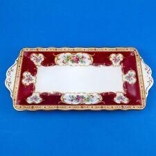 "Royal Albert Lady Hamilton Sandwich Plate 10 1/2"""
