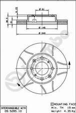 2x Bremsscheibe BREMBO MAX LINE 09.5285.75 für CIVIC HONDA 240 EG 240mm vorne 5